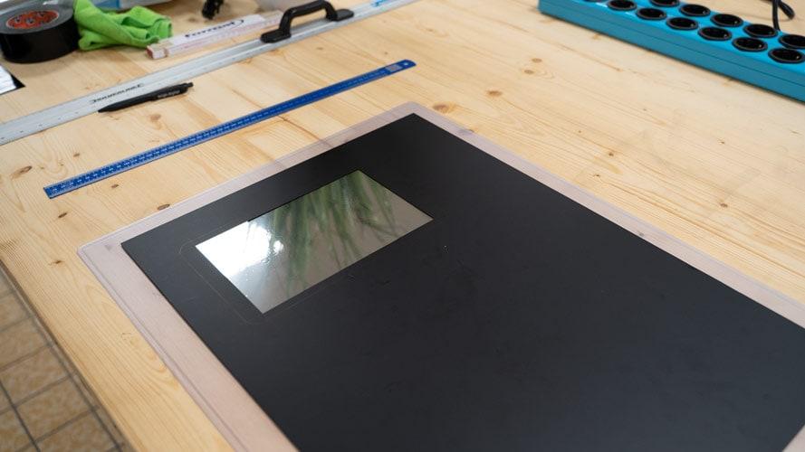 Smart-Mirror ohne Display von hinten