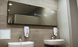 Smart-Mirror in der Kletterhalle