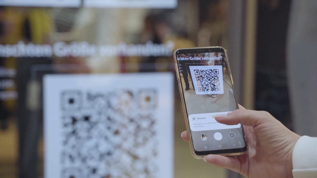 QR-Code am Smart Mirror Hub